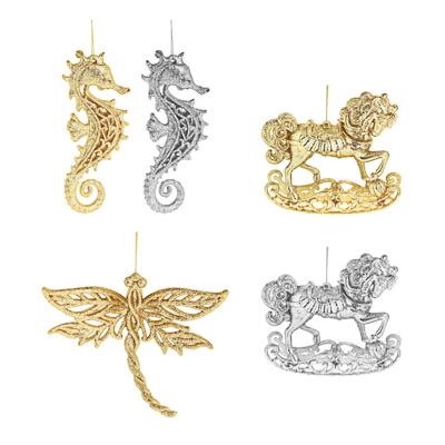 СНОУ БУМ Подвеска 14см, пластик, золото и серебро, 3 дизайна