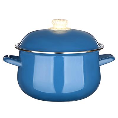 VETTA Глянец Кастрюля эмалированная, 22см, 3,6л, синий