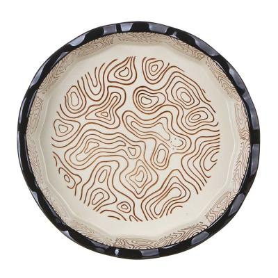 MILLIMI Форма для запекания и сервировки круглая, керамика, 22х4,5см, шоколад