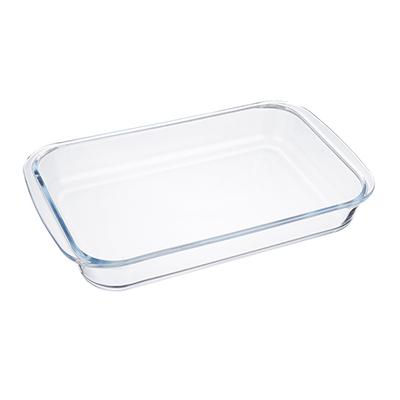 SATOSHI Форма для запекания жаропрочная прямоугольная, с ручками, стекло, 34х21х5см, 2,0л