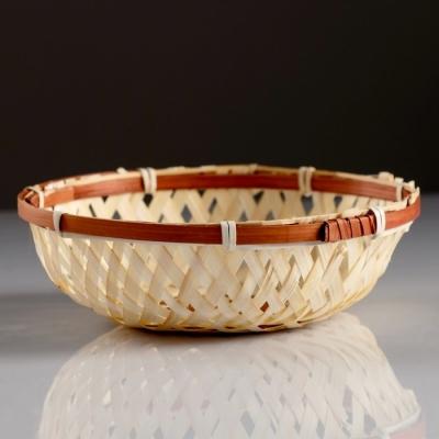 Сухарница «Плетёнка», 16×3 см, бамбук