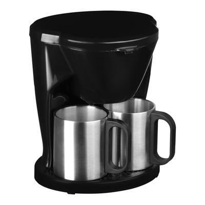 LEBEN Кофеварка капельная 500Вт, две металлические чашки 0,3л