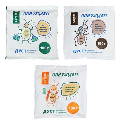 Дуст для защиты от клопов/тараканов/муравьев «BOZ», 100 гр