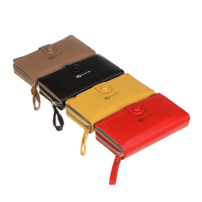 ЮL Кошелек с отделениями для карт и купюр, ПУ, 16х9,5х3см, 4 цвета, КК21-13