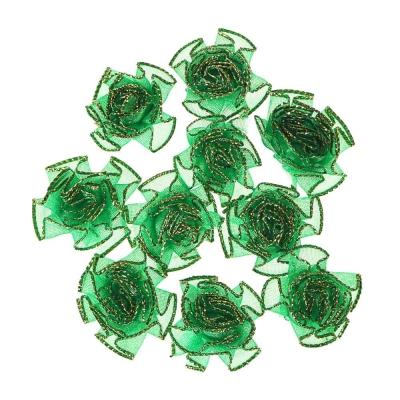 Декор швейный 10шт, полиэстер, пластик, d3,5см, 5 цветов, DEC2016-2