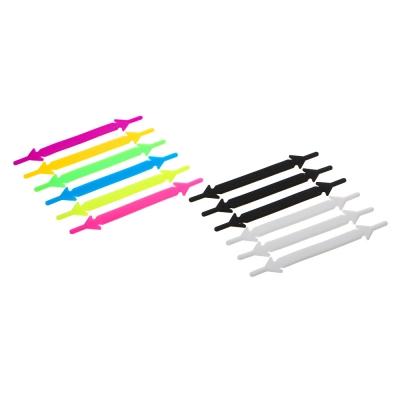 Набор шнурков 6шт, силикон, 9см, 2 дизайна