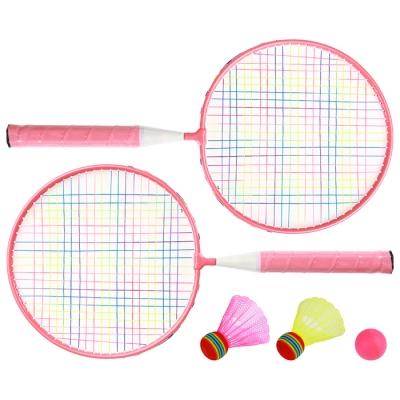 Набор для игры в бадминтон, 2 ракетки 44 см, алюминий, 2 волана, мяч, в сумке, цвета МИКС