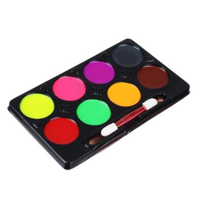 Набор грима, люминесцентный, 8цв., аппликатор в комплекте, 21,5х17,5см, масляный грим, пластик