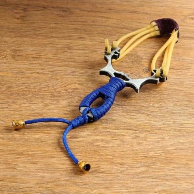 Рогатка металлическая в оплетке, цвет микс