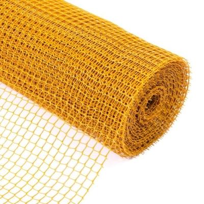 Сетка садовая, 1 × 20 м, ячейка 1,5 × 1,5 см, жёлтая