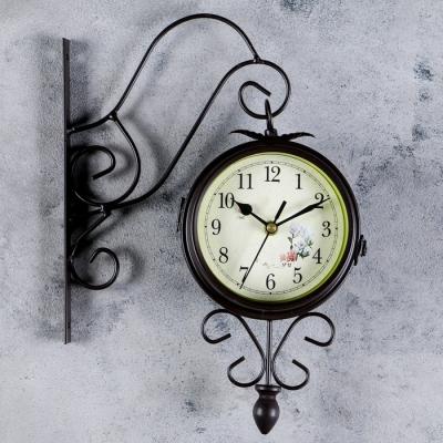 """Часы настенные двойные, серия: Садовые, """"Весеннее настроение"""", d=14.5 см"""