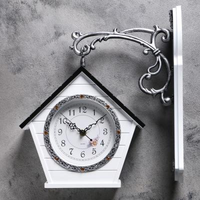 """Часы настенные двойные, серия: Садовые, """"Домик"""", 32х40 см,"""
