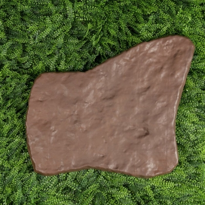 Модульное покрытие, 55 × 42 см, пластик, коричневый, «Камень № 1», 1 шт