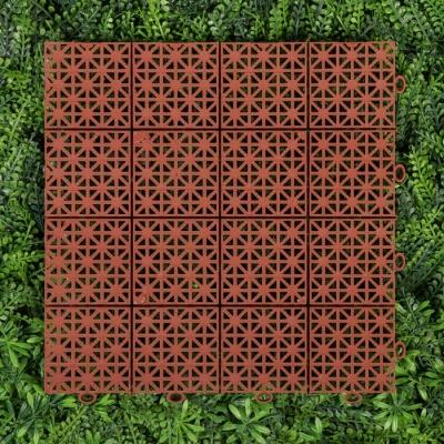Модульное покрытие, 30 × 30 × 1.1 см, пластик, терракотовый, 1 шт