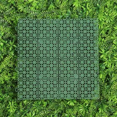 Модульное покрытие, 30 × 30 × 1,5 см, пластик, зелёный, 1 шт