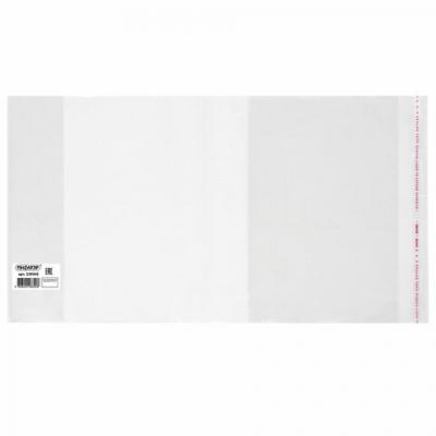 Обложка ПП 210х380 мм для тетрадей и дневников, ПИФАГОР, универсальная, КЛЕЙКИЙ КРАЙ, 80 мкм, штрих-код, 229342