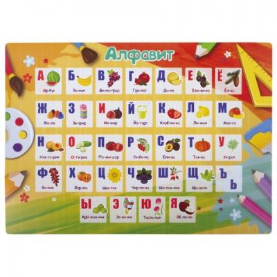 Настольное покрытие ПИФАГОР, А3+, пластик, 46x33 см, Alphabet, 270404