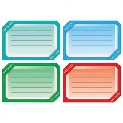 """Наклейка для тетрадей, HATBER, европодвес, комплект 16 шт., """"Цветная"""", 165х200 мм, Накл 14729, O181843"""
