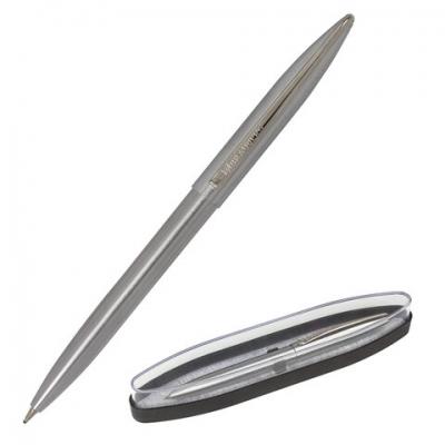 Ручка бизнес-класса шариковая BRAUBERG Ballet, СИНЯЯ, корпус серебристый с хром.,лини, 143480