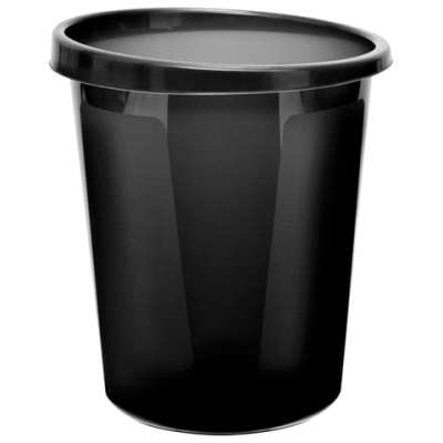Корзина для бумаг, 9 л, цельная, черная, СТАММ, КР60