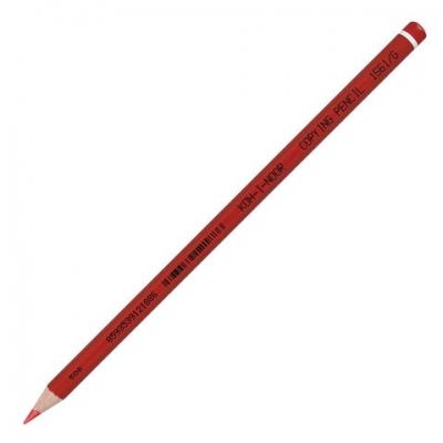 Карандаш химический KOH-I-NOOR, КРАСНЫЙ, 1 шт., грифель 3 мм, длина 175 мм, 156100G004KS