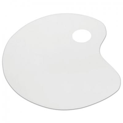 Палитра для рисования СТАММ пластиковая, малая, плоская, без ячеек, ПА30