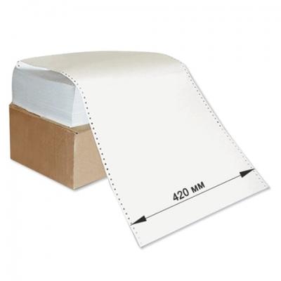 """Бумага с неотрывной перфорацией, 420х305 мм (12""""), 1500 листов, плотность 65 г/м2, белизна 98%, 350059"""