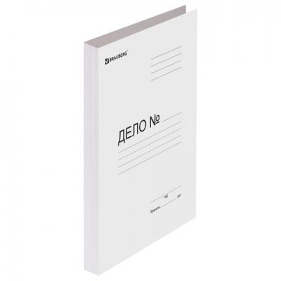 """Папка без скоросшивателя """"Дело"""", картон мелованный, плотность 280 г/м2, до 200 листов, BRAUBERG, 110927"""