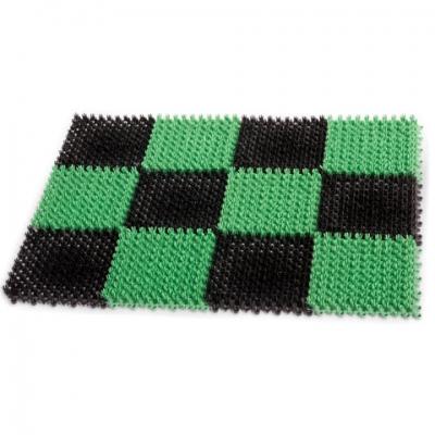 """Коврик входной пластиковый грязезащитный """"ТРАВКА"""" 55х40 см, толщина 18 мм, зеленый-черный, IDEA, М2280, М 2280"""