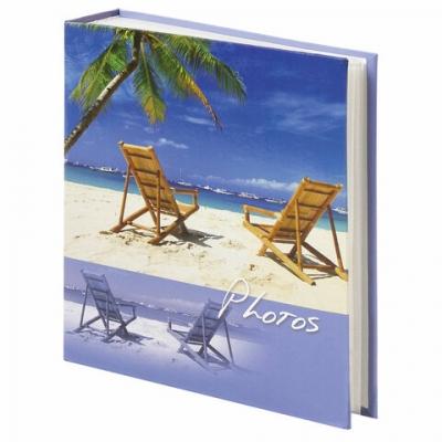 """Фотоальбом BRAUBERG """"Отдых у моря"""" на 200 фото 10х15 см, твердая обложка, термосварка, 391169"""