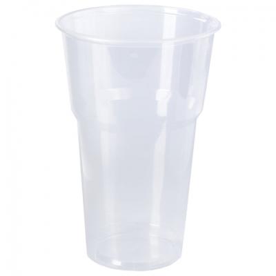 """Одноразовые стаканы 500 мл, КОМПЛЕКТ 20 шт., пластиковые, """"БЮДЖЕТ"""", прозрачные, ПП, холодное/горячее, LAIMA, 600939"""