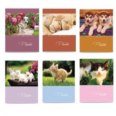 """Фотоальбом BRAUBERG на 36 фото 10х15 см, мягкая обложка, """"Котята/Щенки"""", ассорти, 390650"""