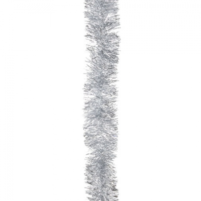Мишура 1 штука, диаметр 50 мм, длина 2 м, серебро, 5-180-5