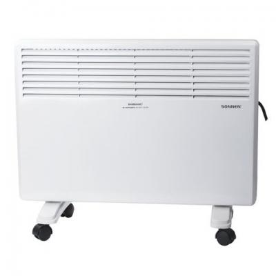 Обогреватель-конвектор SONNEN X-1500, 1500 Вт, напольная/настенная установка, белый, 453495