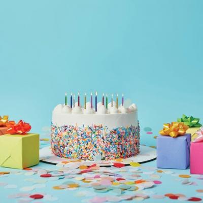 Набор свечей для торта 12 шт., 6 см, с держ., металлик, ассорти, ЗОЛОТАЯ СКАЗКА, в блистере, 591450