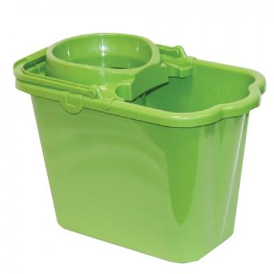Ведро 9,5 л, с отжимом (сетчатый), пластиковое, цвет зеленый, (моп 602584, -585), IDEA, М 2421