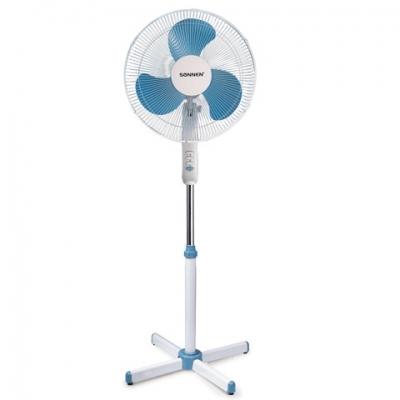 Вентилятор напольный SONNEN FS40-A104 Line, 45 Вт, 3 скоростных режима, белый/синий, 451034