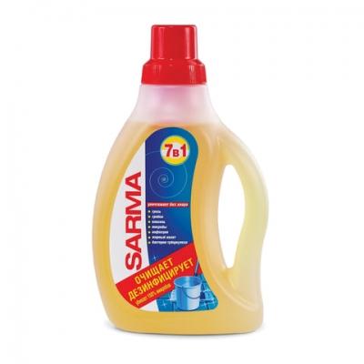 """Средство для мытья пола 750 мл SARMA """"Лимон"""", антибактериальное, концентрат, 09088"""