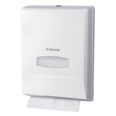 Диспенсер для полотенец ЛАЙМА PROFESSIONAL (Система H2) Interfold, белый, ABS-пластик, 601425
