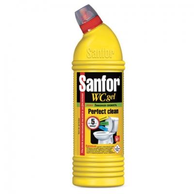 """Средство для уборки туалета 750 г, SANFOR WC gel (Санфор гель) """"Лимонная свежесть"""", 1550"""