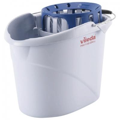 """Ведро VILEDA """"Супер-моп"""", с системой отжима для веревочных и ленточных МОПов, овальное, объем 10 л, 122705"""