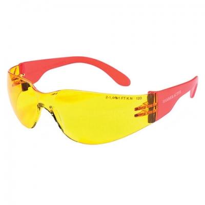 Очки защитные открытые РОСОМЗ О15 Hammer Active Contrast super, желтые, устойчивы к химич. веществам, незапотевающее покрытие, поликарбонат, 11536