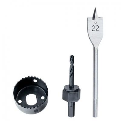 Набор для установки врезных замков, 22 мм - 54 мм (перьевое сверло/кольцевая пила), MATRIX, 70494