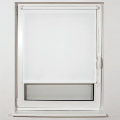 Штора рулонная BRABIX 50х175 см, текстура - лён, защита 55-85%, 200 г/м2, белый S-5, 605975