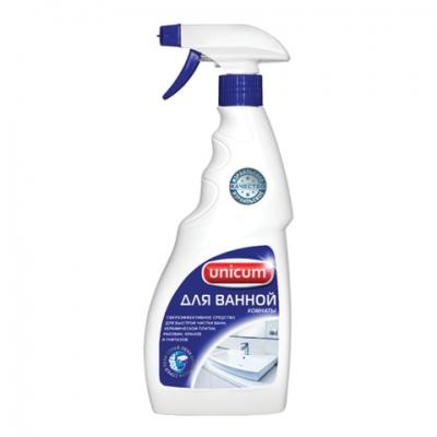 Чистящее средство 500 мл, UNICUM (Уникум), для ванной комнаты и сантехники, спрей, 300070
