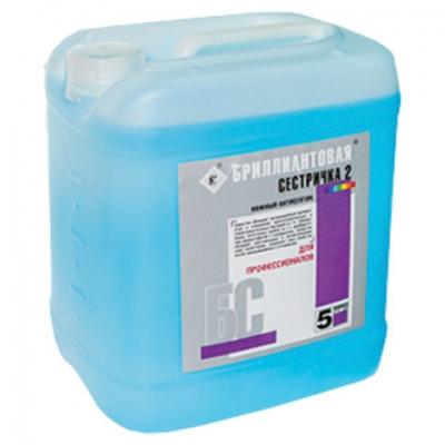Мыло жидкое дезинфицирующее 5 л, БРИЛЛИАНТОВАЯ СЕСТРИЧКА-2, гипоаллергенное