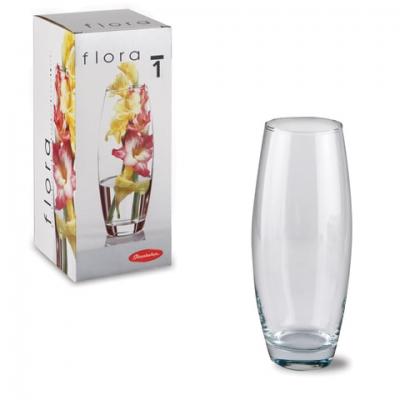 """Ваза """"Flora"""", овальная, высота 26 см, стекло, PASABAHCE, 43966"""