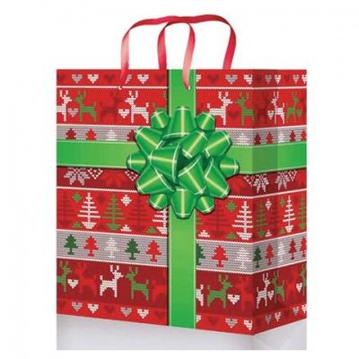 """Пакет подарочный 18x23x8 см, """"Новогодний подарочек"""", ламинированный, ПКП-8863"""