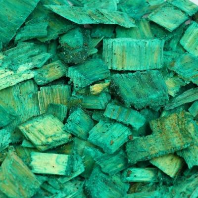 Щепа декоративная, зелёная 20л.