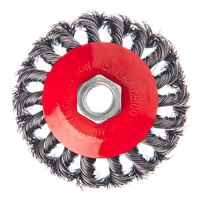 ЕРМАК Щетка металл. для УШМ 85мм/М14, крученая (тарелка)